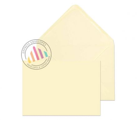 C6 - Cream Invitation Envelopes - 100gsm - Non Window - Gummed