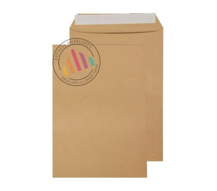 C4 - Manilla Commercial Envelopes - 115gsm - Non Window - Peel & Seal