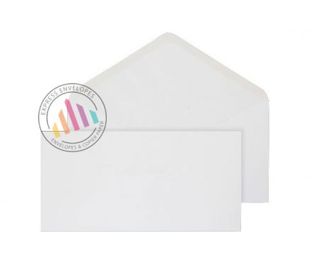 DL - White Banker Invitation Envelopes - 90gsm - Non Window - Gummed