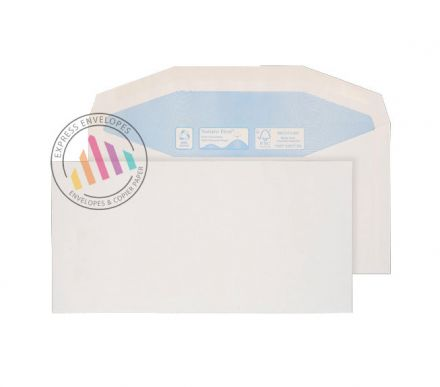 Recycled DL - White Mailing Envelopes - 90gsm - Non Window - Gummed