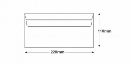 DL - White Commercial Envelopes - 100gsm - Non Window - Self Seal - image 2