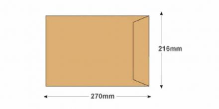 270x216mm - Manilla Commercial  Envelopes - 120gsm - Non Window - Gummed - image 2