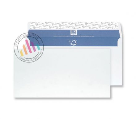 Recycled DL - Super White Envelopes - 120gsm - Non Window - Peel & Seal