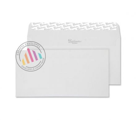 DL - High White Wove Envelopes - 120gsm - Non Window - Peel & Seal