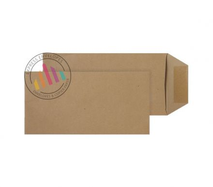 121mm x 235mm - Manilla Commercial Envelopes - 80gsm - Non Window - Gummed