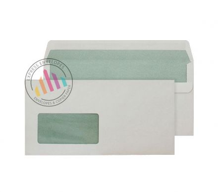 Recycled DL - Natural White Envelopes - 90gsm -  Window - Self Seal