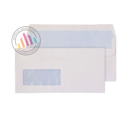 DL -  White Commercial Envelopes - 100gsm - Low Window - Self Seal
