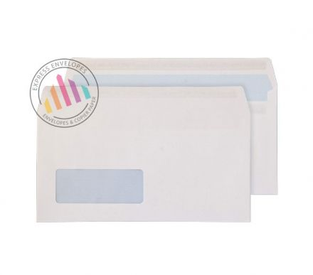 DL - White Commercial Envelopes - 100gsm - Window - Peel & Seal