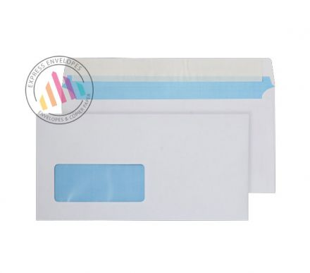 DL - White Commercial Envelopes - 110gsm - Low Window - Peel & Seal