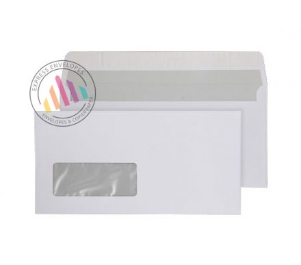 DL - Bright White Commercial Envelopes - 120gsm - Window - Peel & Seal