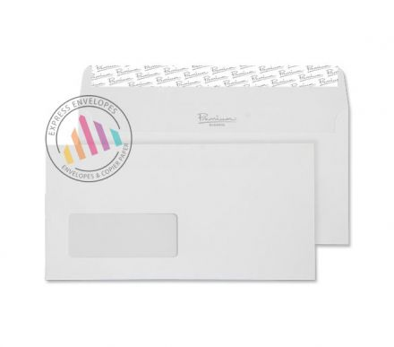 DL - High White Wove Envelopes - 120gsm -  Window - Peel & Seal