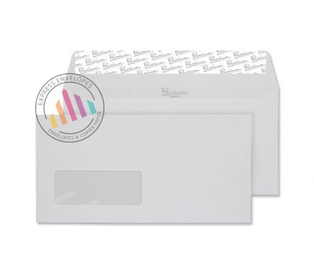 DL - Diamond White Laid Envelopes - 120gsm - Window - Peel & Seal