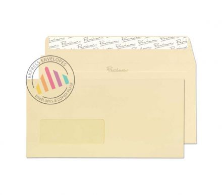 DL - Vellum Laid Envelopes - 120gsm -  Window - Peel & Seal