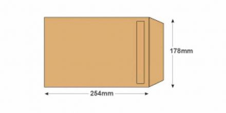 254 x 178 -  Manilla Commercial Envelopes - 90gsm - Non Window - Self Seal - image 2
