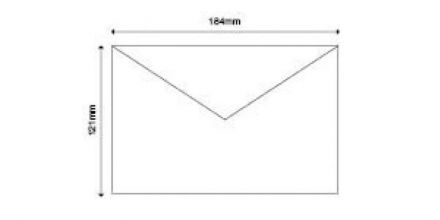 121mm x 184mm - White  Invitation Envelopes - 90gsm - Non Window - Gummed - image 2