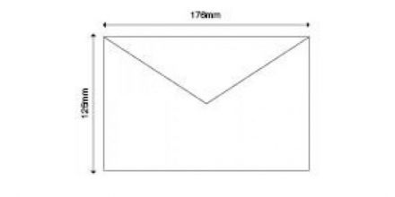 B6 - White Banker Invitation Envelopes - 90gsm - Non Window - Gummed - image 2