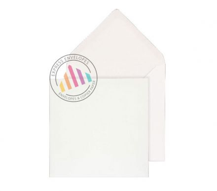 130x130mm - White Invitation Envelopes - 100gsm - Non Window - Gummed