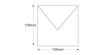 130 x 130mm - White Invitation Envelopes - 100gsm - Non Window - Gummed - image 2