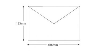 133 x 197mm - Ultra White Invitation Envelopes - 120gsm - Non Window - Gummed - image 2