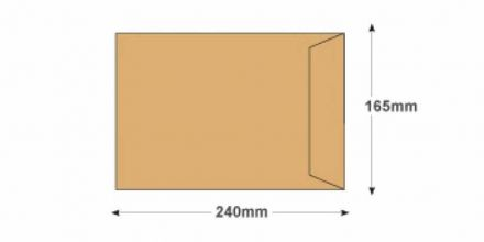 C5+  - Manilla Commercial Envelopes - 90gsm - Non Window - Gummed - image 2