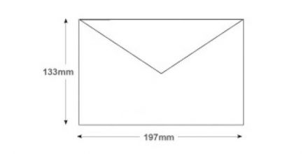 133x197mm - Red Invitation Envelopes - 100gsm - Non Window - Gummed - image 2