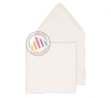 140x140mm - White Invitation Envelopes - 100gsm - Non Window - Gummed