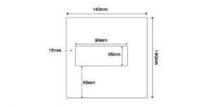 140 x 140mm - White Commercial Envelopes - 100gsm - Window - Gummed  - image 2