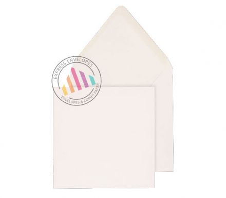 159 x 159mm - White Invitation Envelopes - 100gsm - Non Window - Gummed
