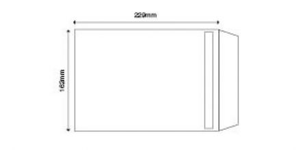 Recycled C5 - White Envelopes - 90gsm -  Non Window - Self Seal - image 2