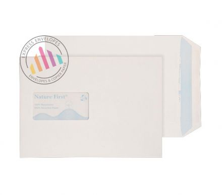 Recycled C5 - White Mailing Envelopes - 90gsm - Window - Self Seal
