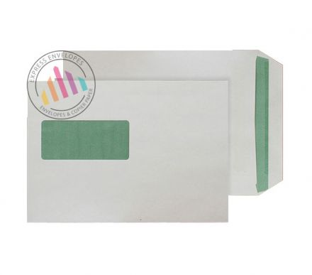 Recycled C5 - Natural White Envelopes - 90gsm - Window - Self Seal