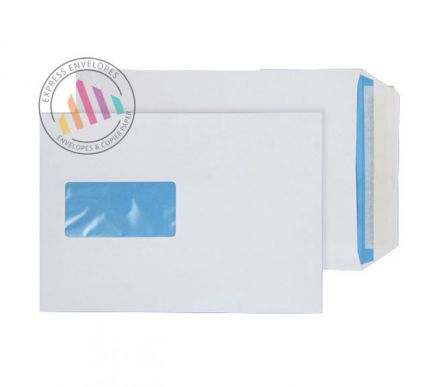 C5 - White Commercial Envelopes - 110gsm - Window - Peel & Seal