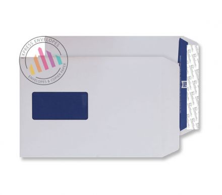 C5 - Super White Wove Envelopes - 120gsm -  Window - Peel & Seal