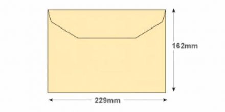 C5 - Cream Mailer Envelopes - 100gsm - Non Window - Gummed - image 2