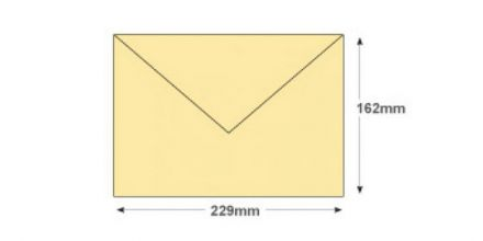 C5 - Cream Invitation Envelopes - 100gsm - Non Window - Gummed - image 2