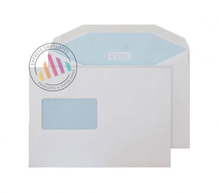 C5 - White Matt Coated Mailing Envelopes - 130gsm - Window - Gummed