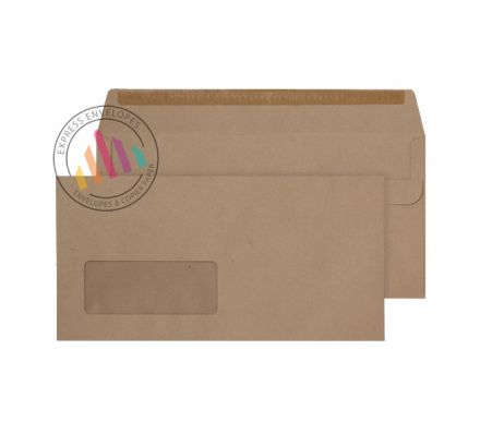 DL - Manilla Commercial Envelopes - 80gsm - Window - Self Seal
