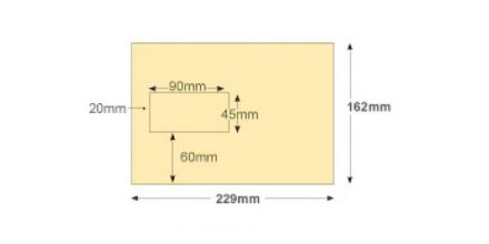 C5 - Cream Mailing Envelopes - 100gsm - Window - Gummed - image 2