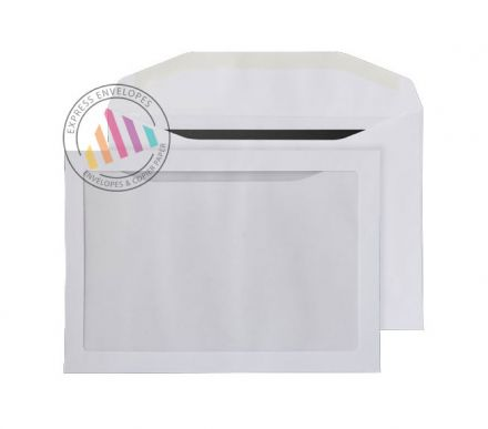 C5 - White Mailing Envelopes - 100gsm - Full Face Window - Gummed