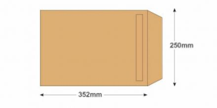 B4 - Manilla Commercial  Envelopes - 120gsm - Non Window - Self Seal - image 2