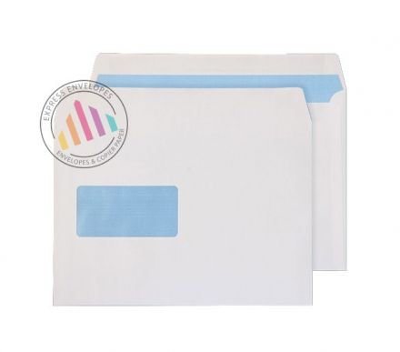 C5 - White Commercial Envelopes - 100gsm -  Window - Self Seal