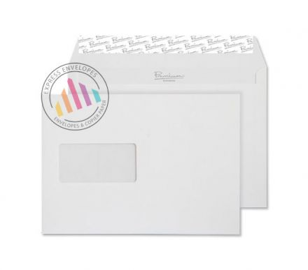 C5 - High White Wove Envelopes - 120gsm - Window - Peel & Seal