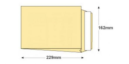 C5 - Cream Wove Gusset Envelopes - 140gsm - Non Window - Peel & Seal - image 2