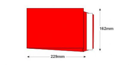 C5 - Pillar Box Red Gusset Envelopes - 140gsm - Non Window -  Peel and Seal - image 2