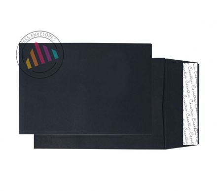 C5 - Jet Black Gusset Envelopes - 140gsm - Non Window - Peel & Seal