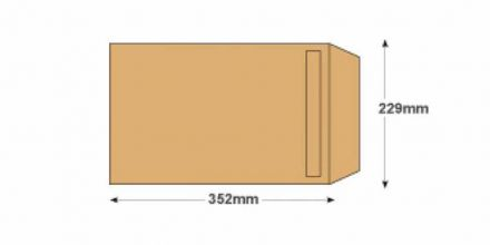352 x 229mm -  Manilla Commercial Envelopes - 115gsm - Non Window - Self Seal - image 2