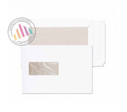 C5 - White Board Back Envelopes - 120gsm - Window - Peel and Seal