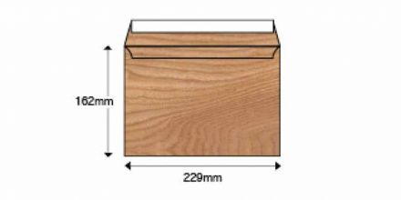 C5 - Polished Oak Natural Finish Envelopes - 135gsm - Non Window - Peel & Seal - image 2