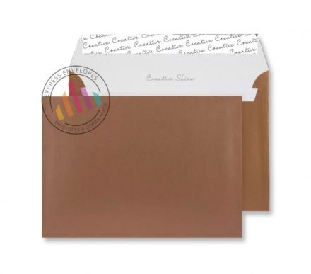 C5 - Metallic Copper Envelopes - 130gsm - Non Window - Peel & Seal