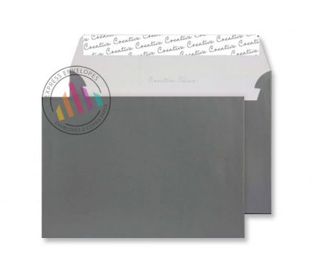 C5 - Gun Metal Metallic Envelopes - 130gsm - Non Window - Peel & Seal